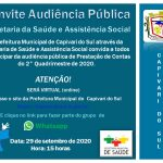 Audiência Pública da Secretaria da Saúde será dia 29 de setembro