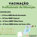 VACINAÇÃO - PROFISSIONAIS DA EDUCAÇÃO